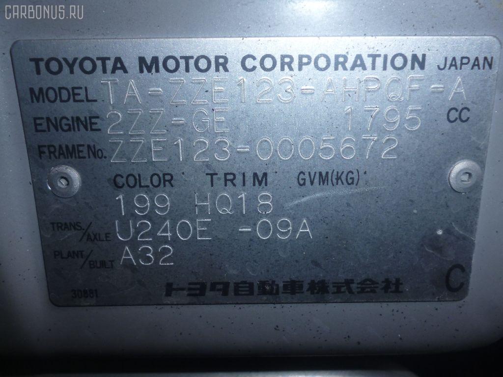 Дефлектор TOYOTA COROLLA RUNX ZZE123 Фото 2
