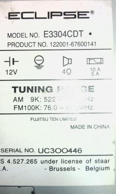 Автомагнитофон Toyota Sprinter wagon EE103V Фото 4