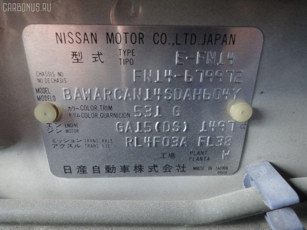 Телевизор NISSAN PULSAR FN14 GA15DS Фото 6