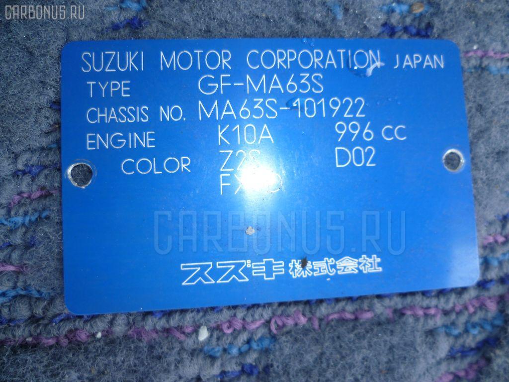 Двигатель SUZUKI WAGON R PLUS MA63S K10A-T. Фото 4