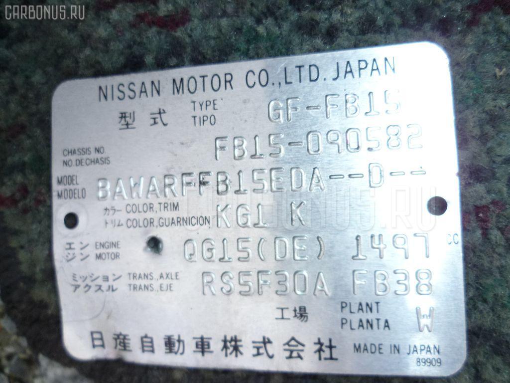 КПП механическая NISSAN SUNNY FB15 QG15DE. Фото 5