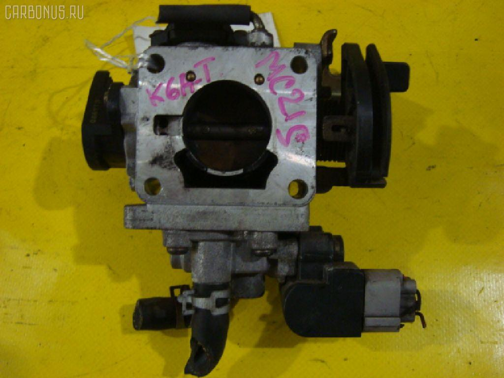 Дроссельная заслонка SUZUKI WAGON R MC21S K6A-T. Фото 6
