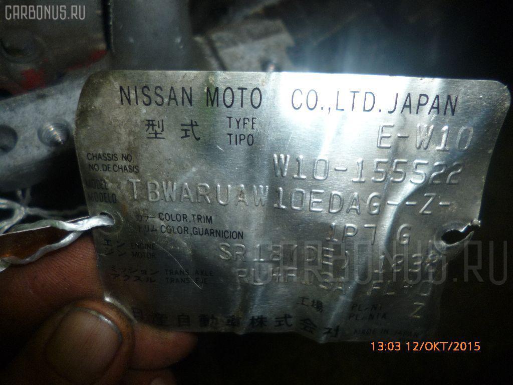 Двигатель NISSAN AVENIR W10 SR18DE Фото 1
