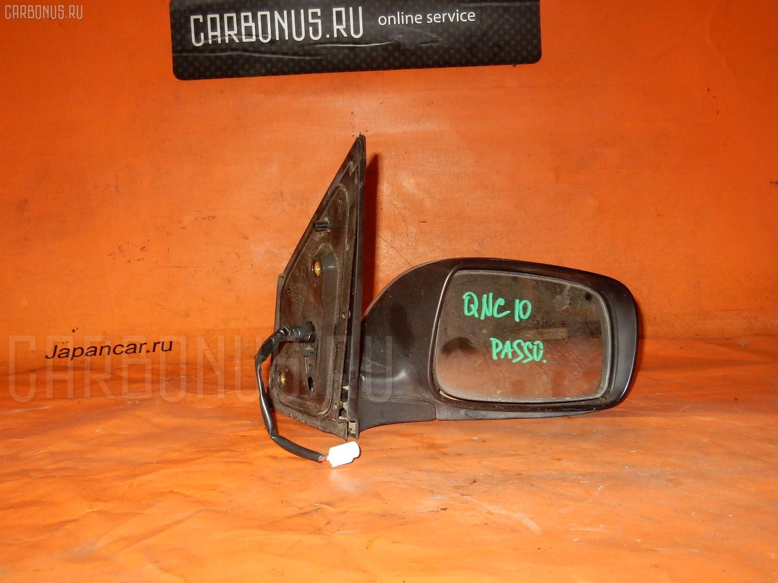 Зеркало двери боковой TOYOTA PASSO QNC10. Фото 3