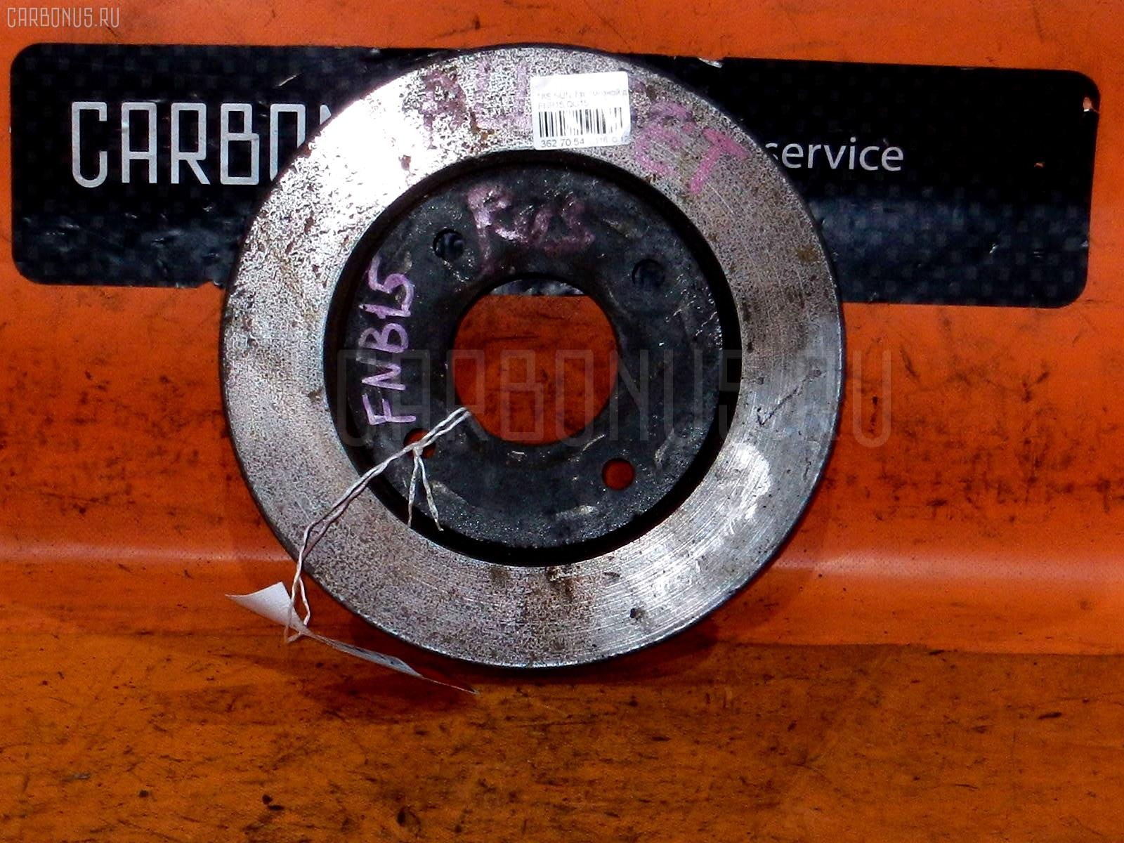 Тормозной диск NISSAN WINGROAD WFY11 QG15DE. Фото 9
