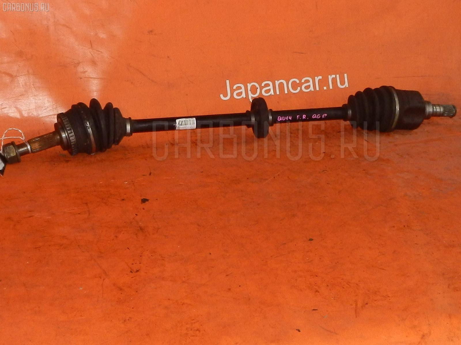 Привод Nissan Bluebird QU14 QG18DD Фото 1