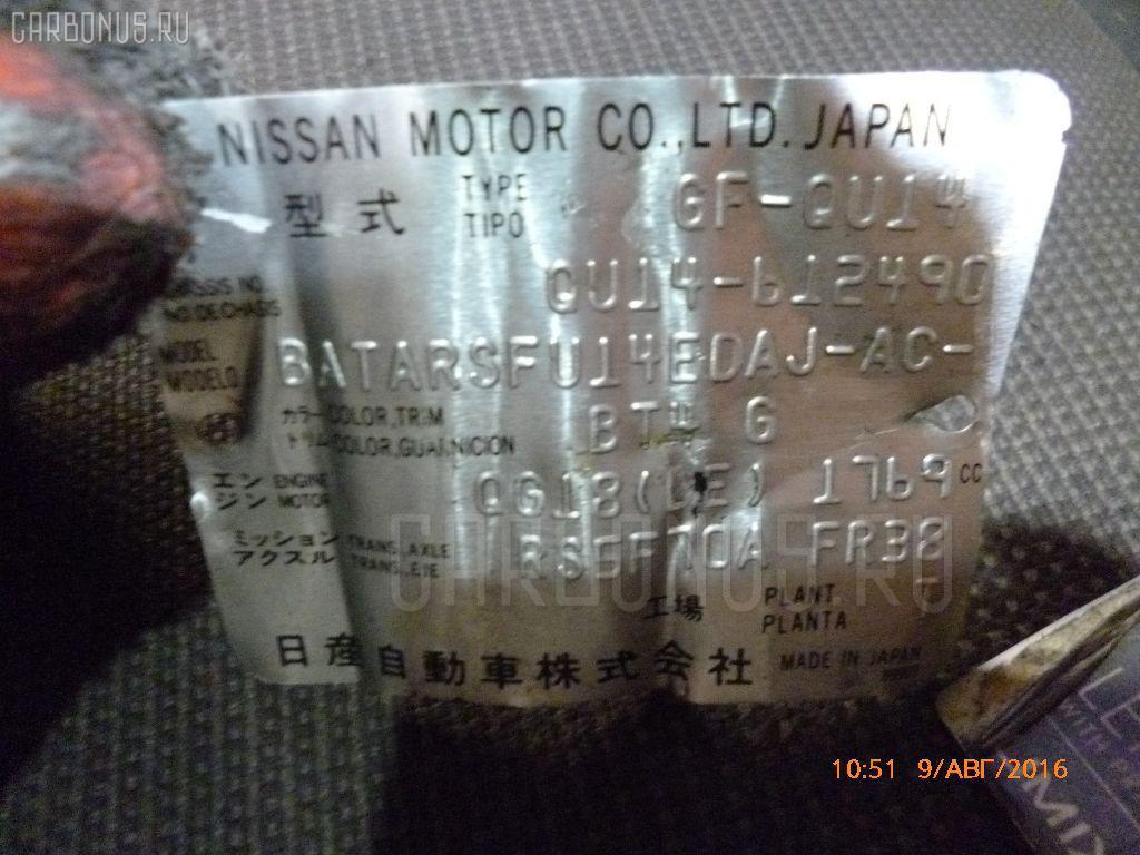 КПП механическая NISSAN BLUEBIRD QU14 QG18DE Фото 1