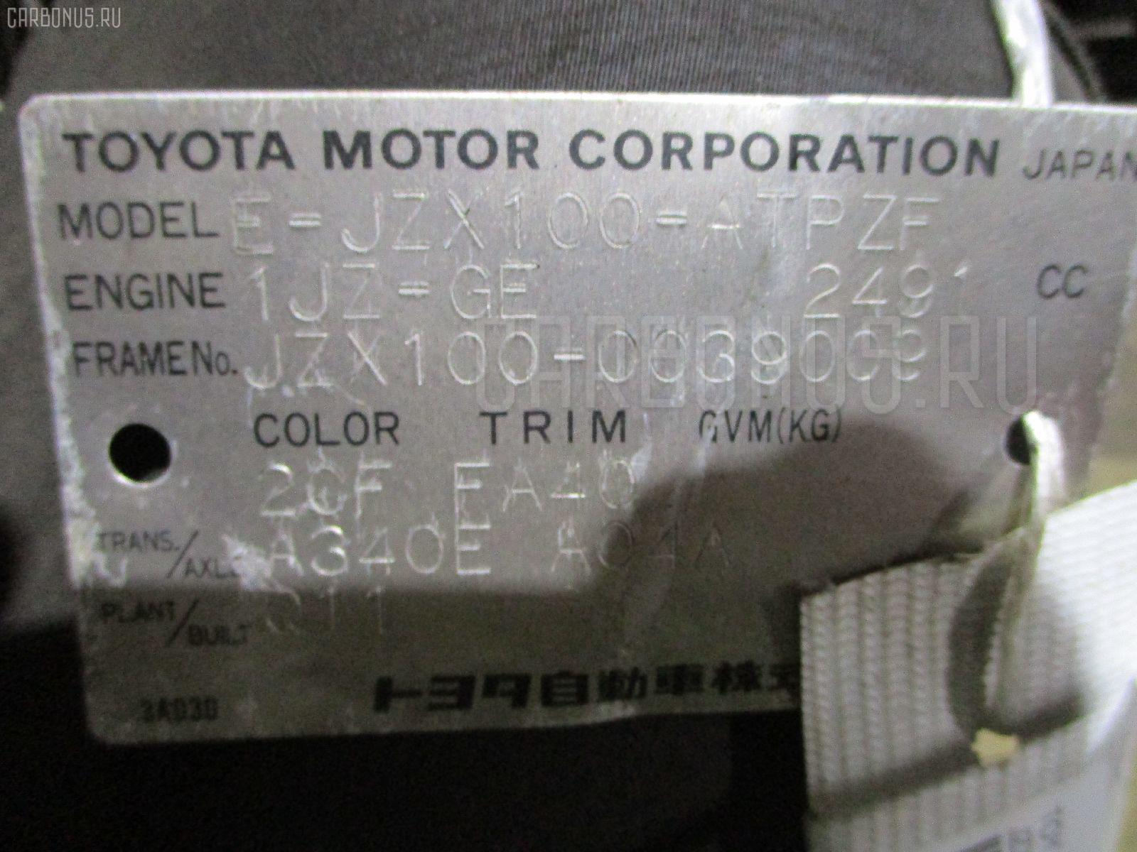 Двигатель Toyota Mark ii JZX100 1JZ-GE Фото 1
