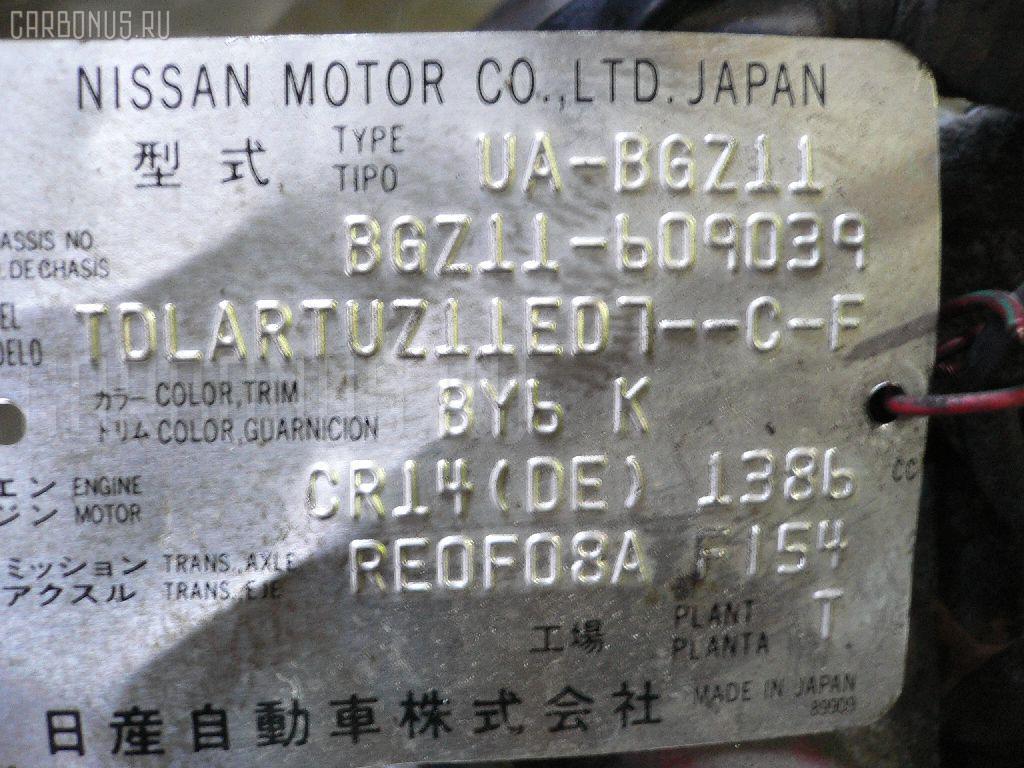 Двигатель NISSAN CUBE CUBIC BGZ11 CR14DE Фото 3