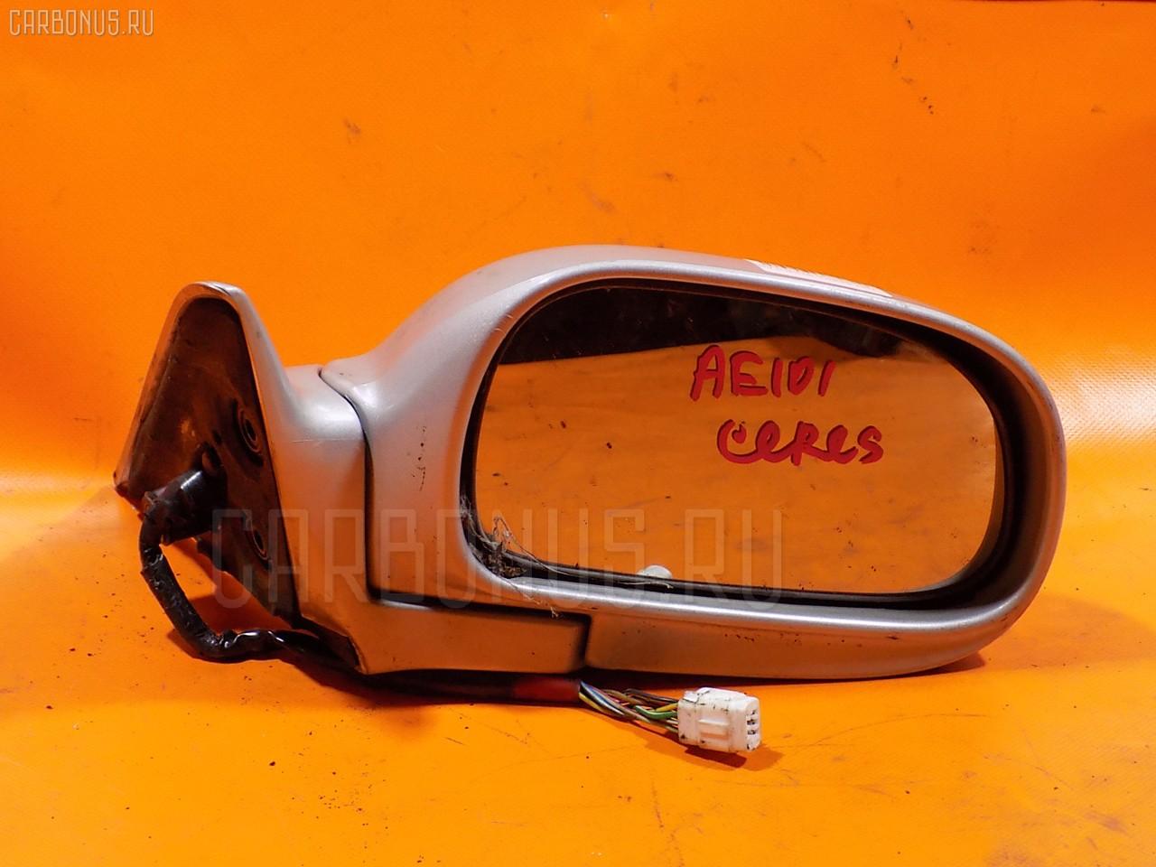 Зеркало двери боковой TOYOTA COROLLA CERES AE101. Фото 3