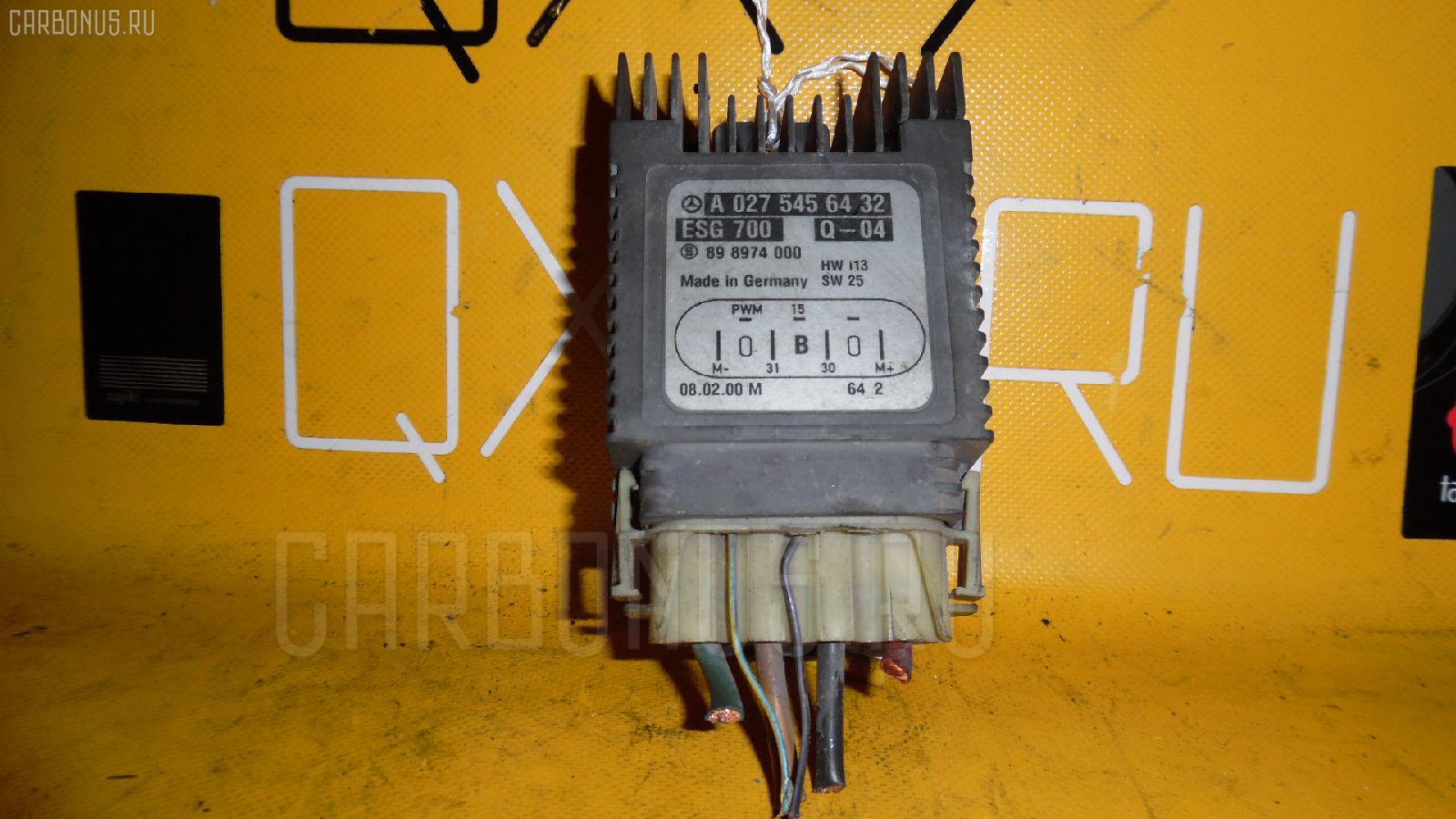 Блок управления вентилятором MERCEDES-BENZ CL-CLASS C215.375 113.960 Фото 2