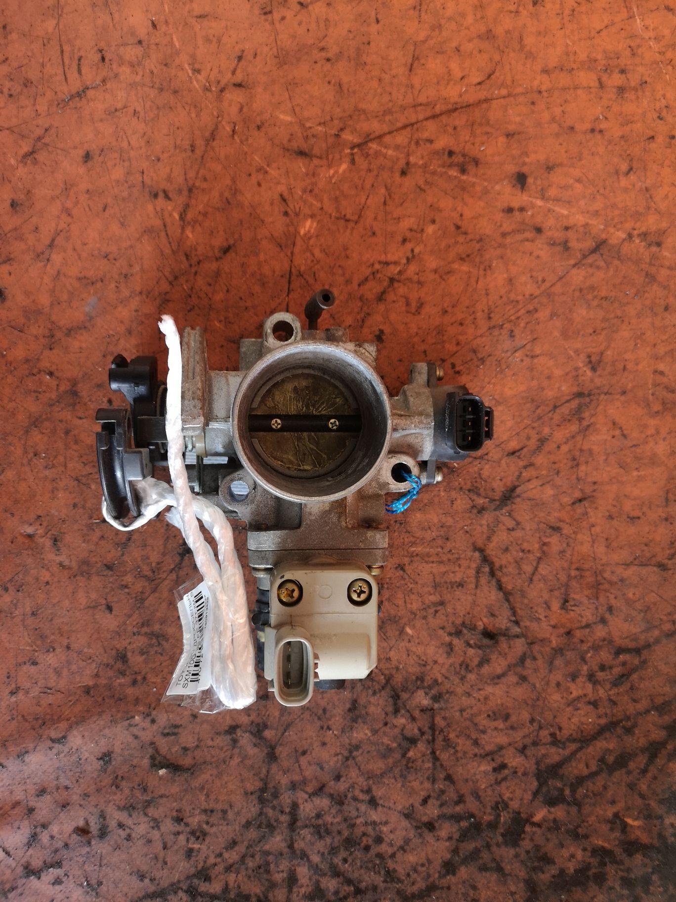 Дроссельная заслонка 37т.км на Toyota Ipsum SXM10G 3S-FE Фото 1