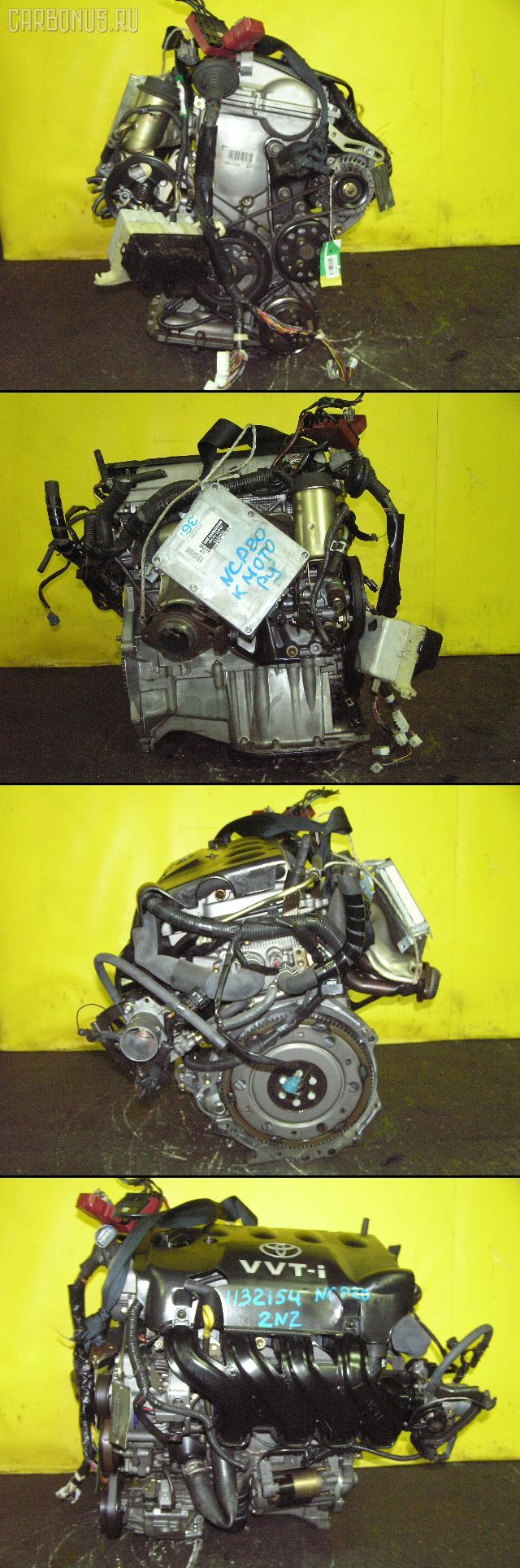 Двигатель TOYOTA PLATZ NCP16 2NZ-FE. Фото 8