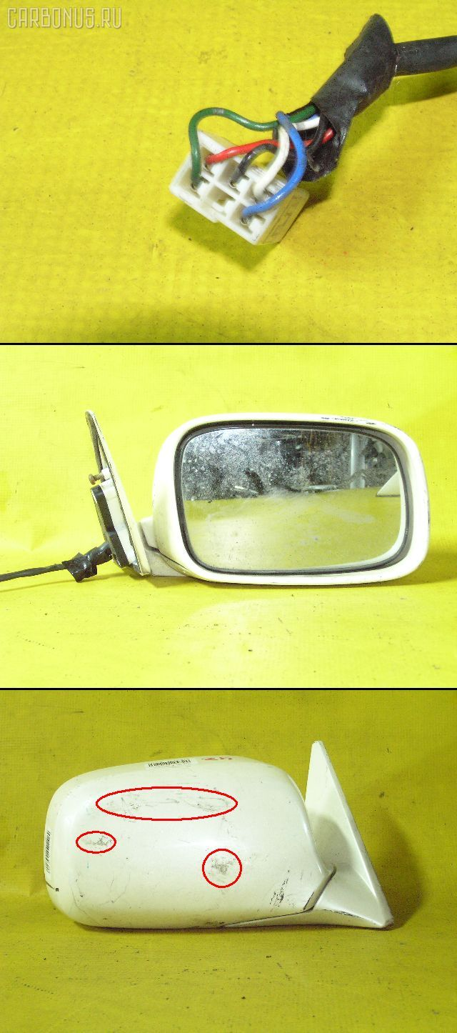 Зеркало двери боковой TOYOTA CROWN MAJESTA UZS151. Фото 3