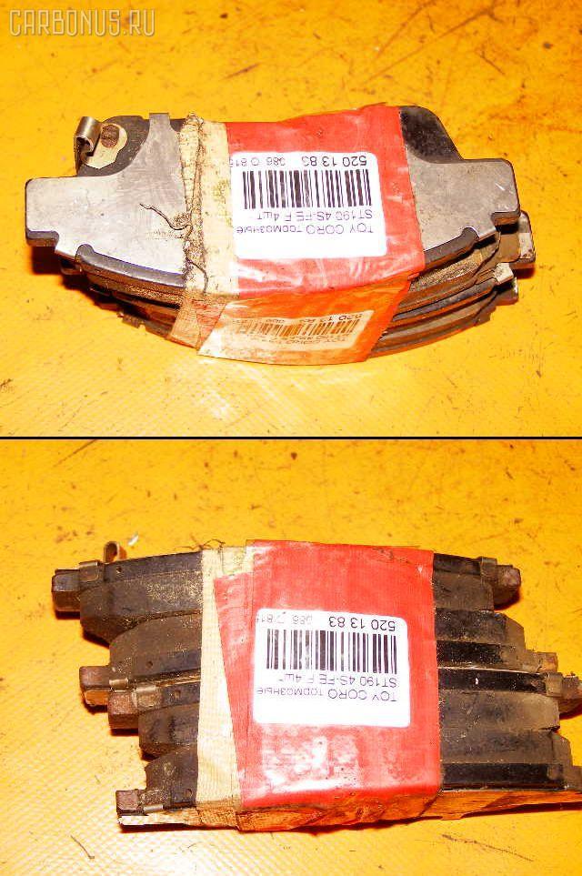 Тормозные колодки TOYOTA CORONA ST190 4S-FE. Фото 10