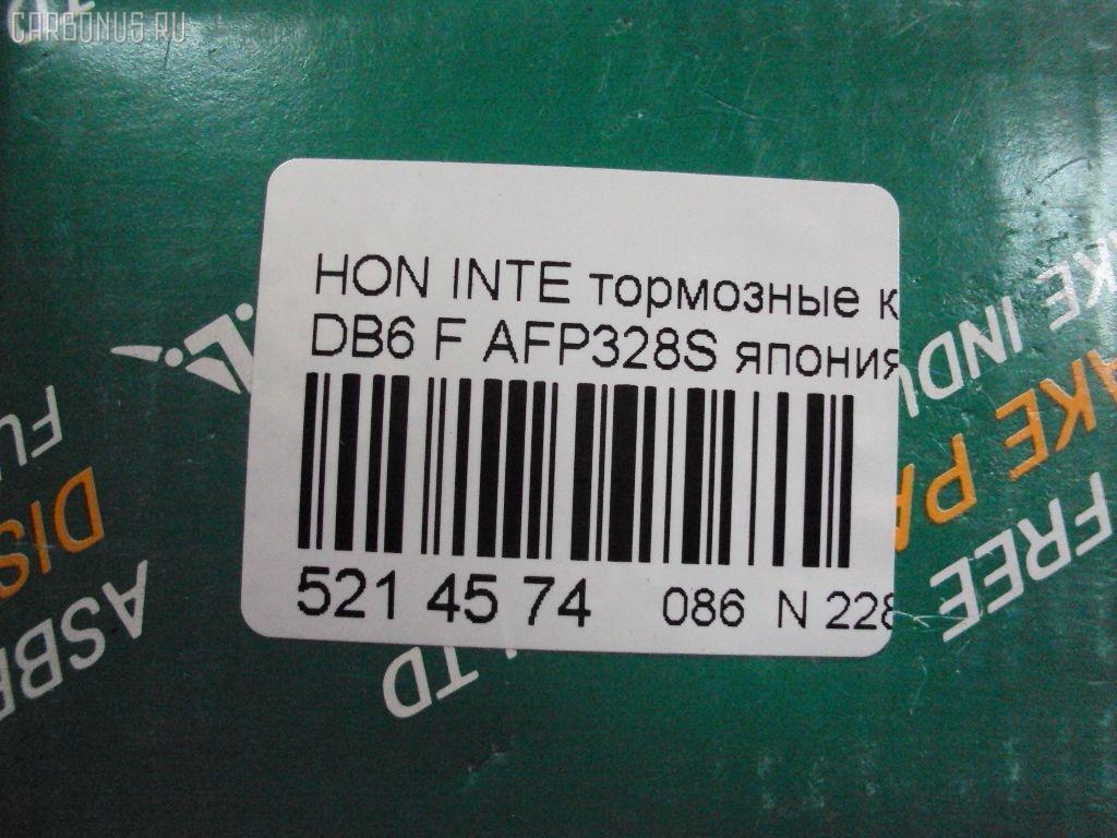 Тормозные колодки HONDA INTEGRA DB6 Фото 2