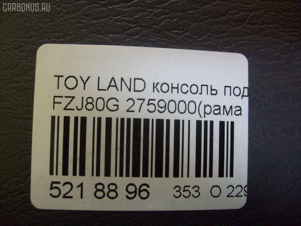Консоль спидометра TOYOTA LAND CRUISER FZJ80G Фото 3