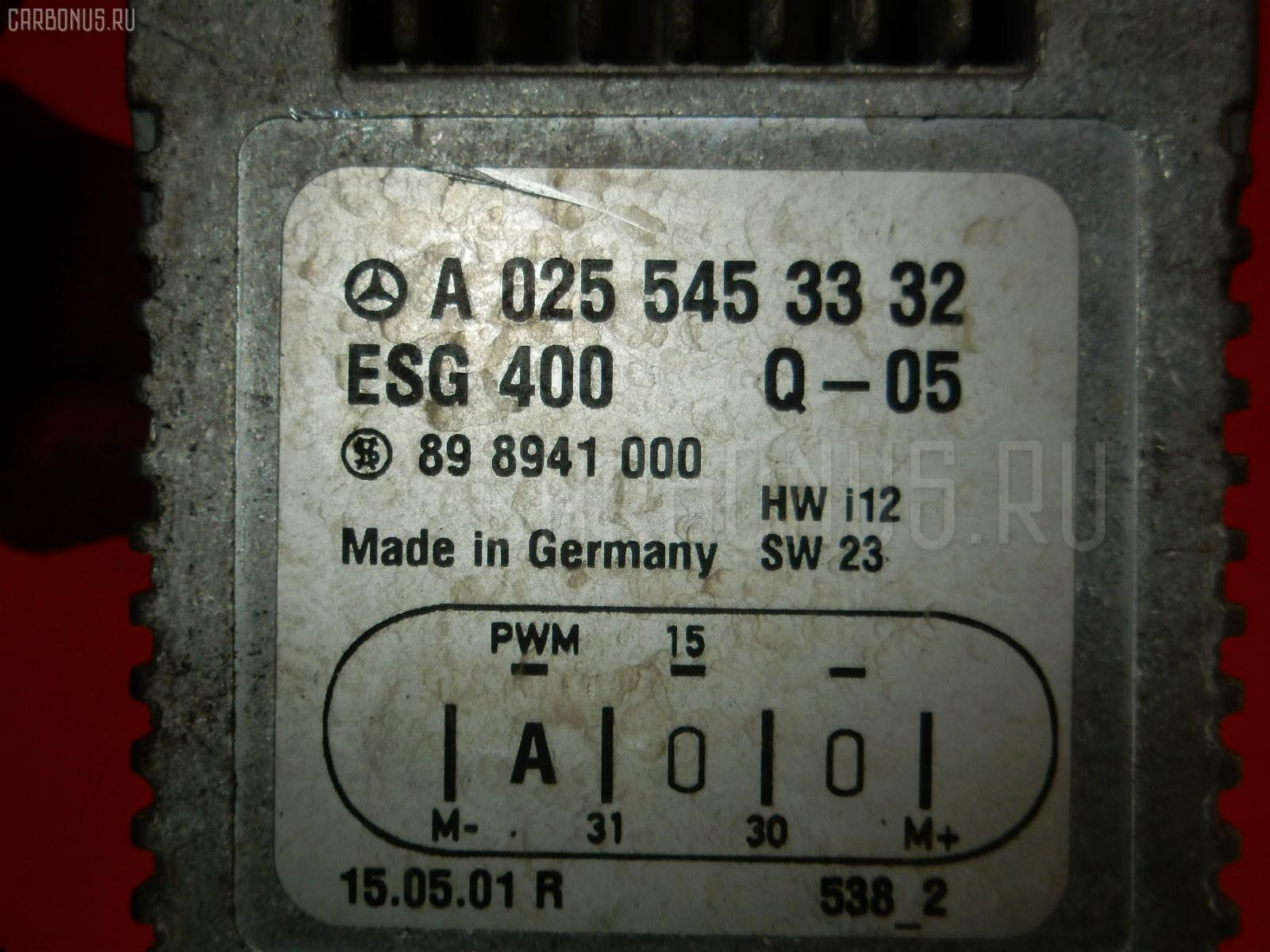Блок управления вентилятором MERCEDES-BENZ E-CLASS STATION WAGON S210.265 112.941 Фото 3