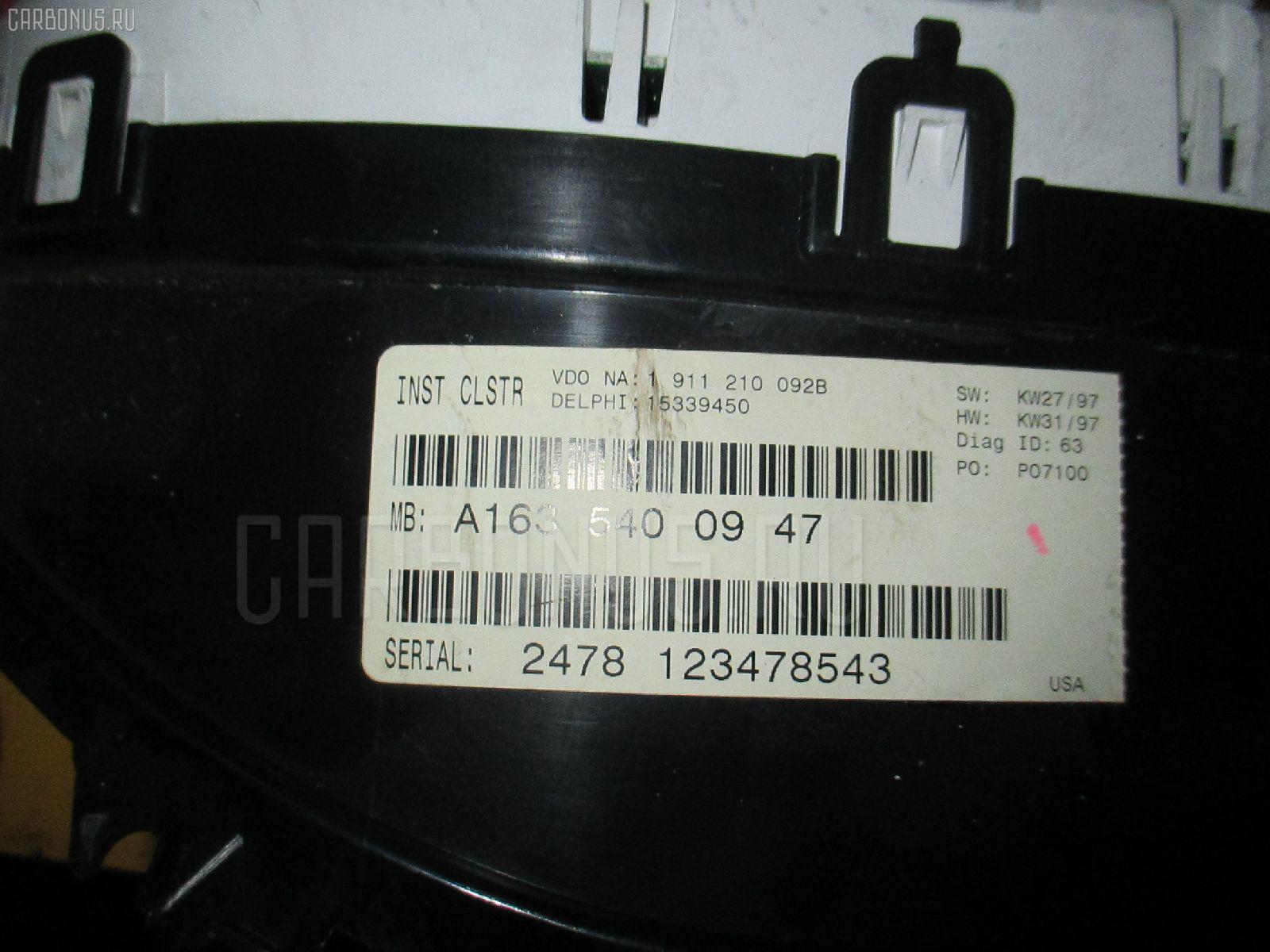 Спидометр MERCEDES-BENZ M-CLASS W163.154 112.942. Фото 1