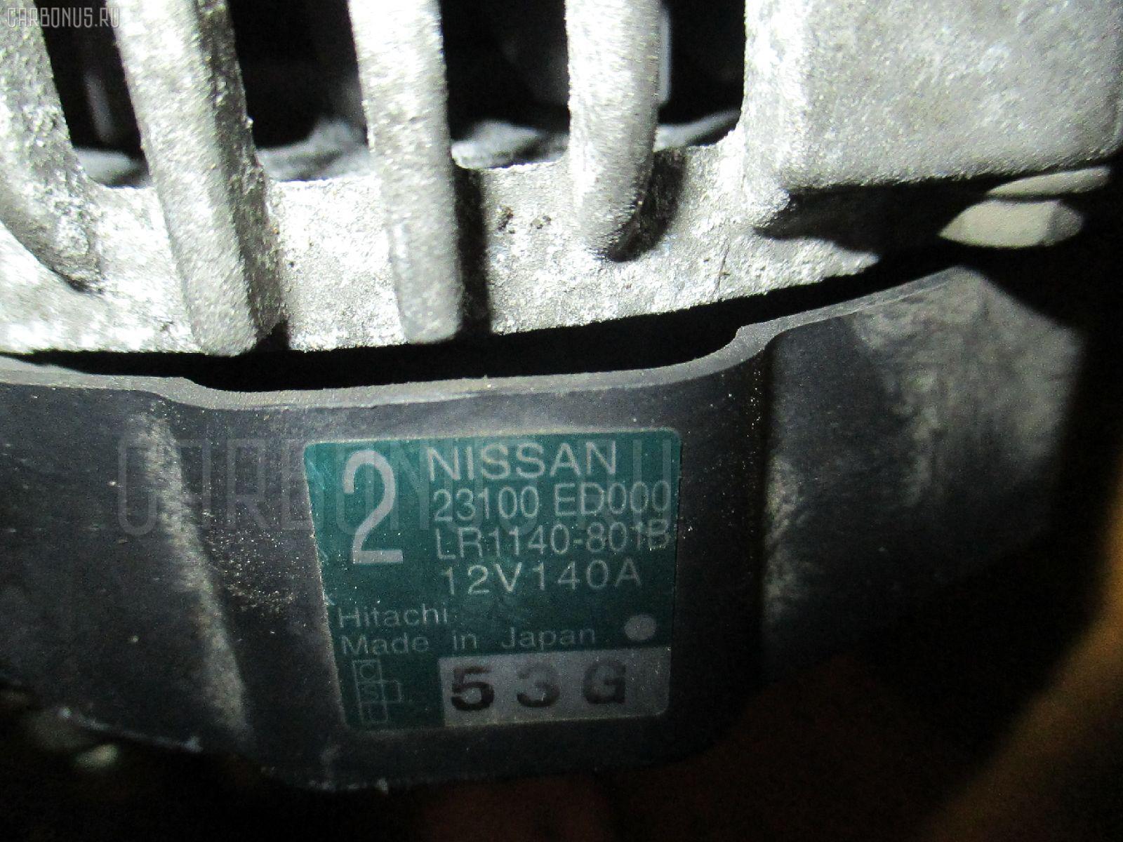 Генератор NISSAN TIIDA C11 HR15DE. Фото 2