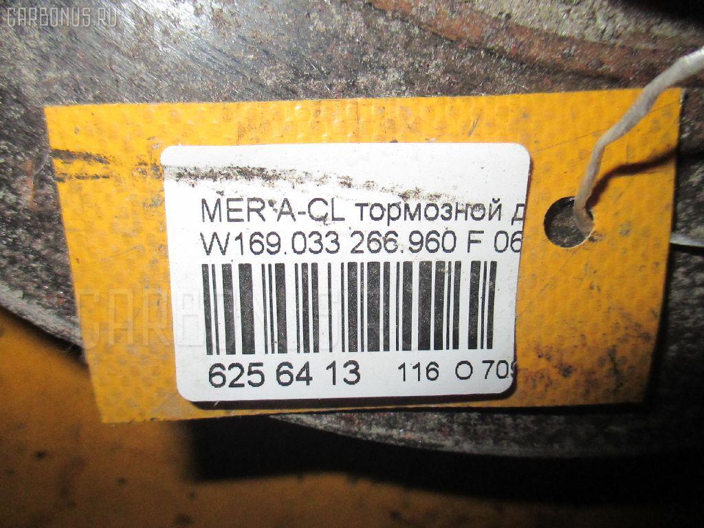 Тормозной диск MERCEDES-BENZ A-CLASS W169.033 266.960 Фото 3