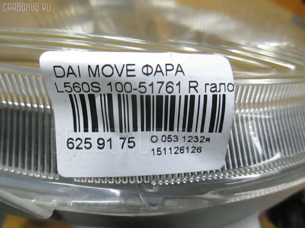 Фара DAIHATSU MOVE LATTE L560S Фото 3