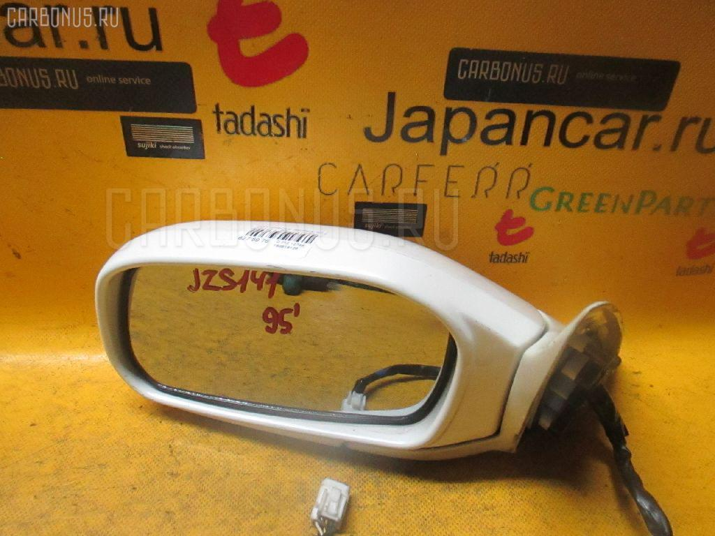 Зеркало двери боковой TOYOTA CROWN JZS141. Фото 7