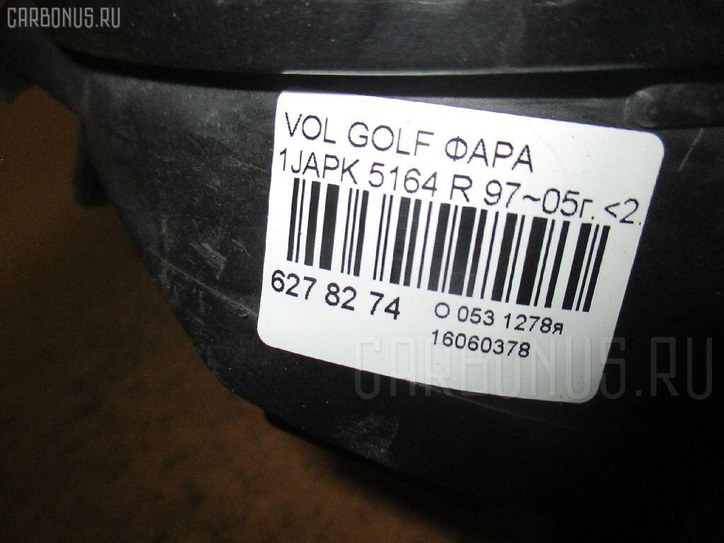 Фара VOLKSWAGEN GOLF IV 1JAGN Фото 3