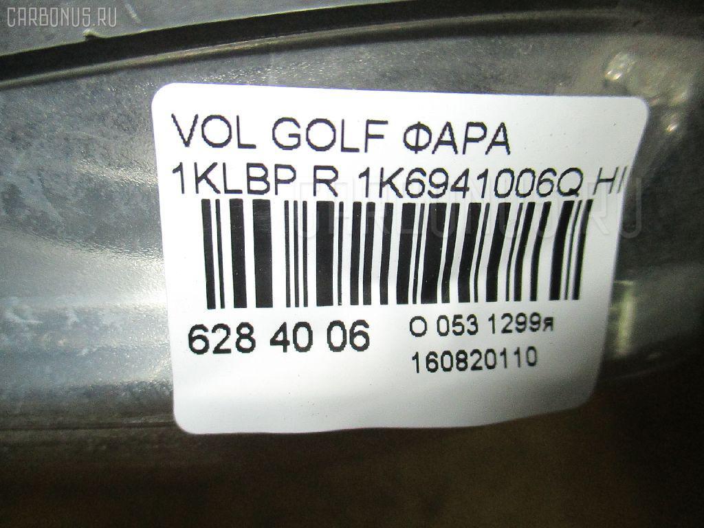 Фара VOLKSWAGEN GOLF V 1KBLP Фото 4