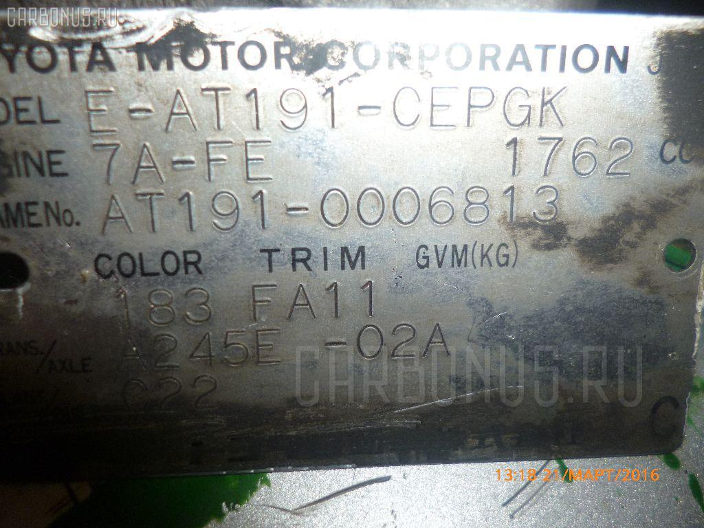 Двигатель TOYOTA CARINA AT191 7A-FE Фото 1