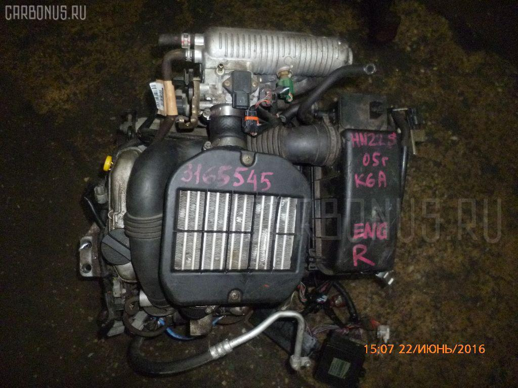 Двигатель SUZUKI KEI HN22S K6A-T. Фото 10