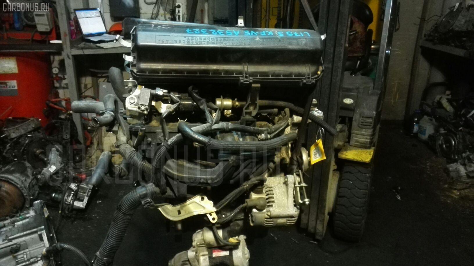 Двигатель DAIHATSU MOVE L175S KF-VE. Фото 2
