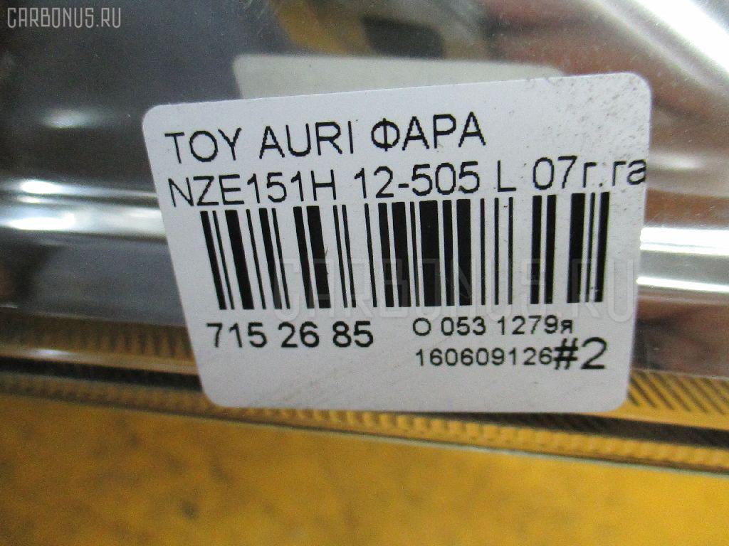 Фара TOYOTA AURIS NZE151H Фото 4
