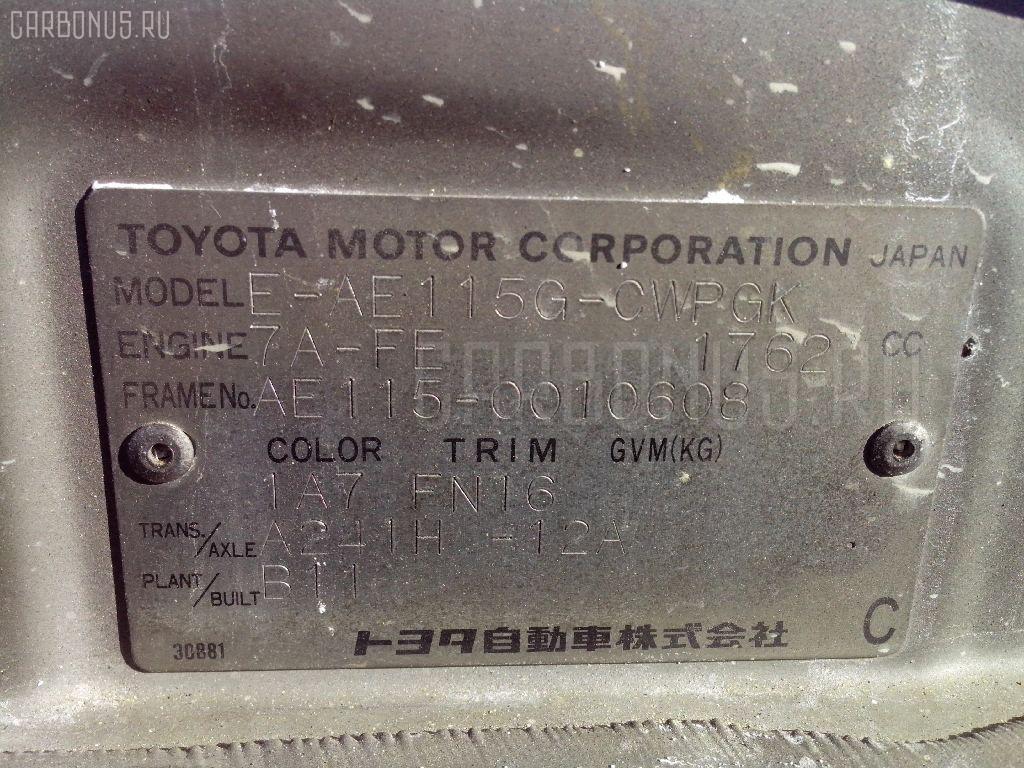 Радиатор печки TOYOTA SPRINTER CARIB AE115G 7A-FE Фото 5