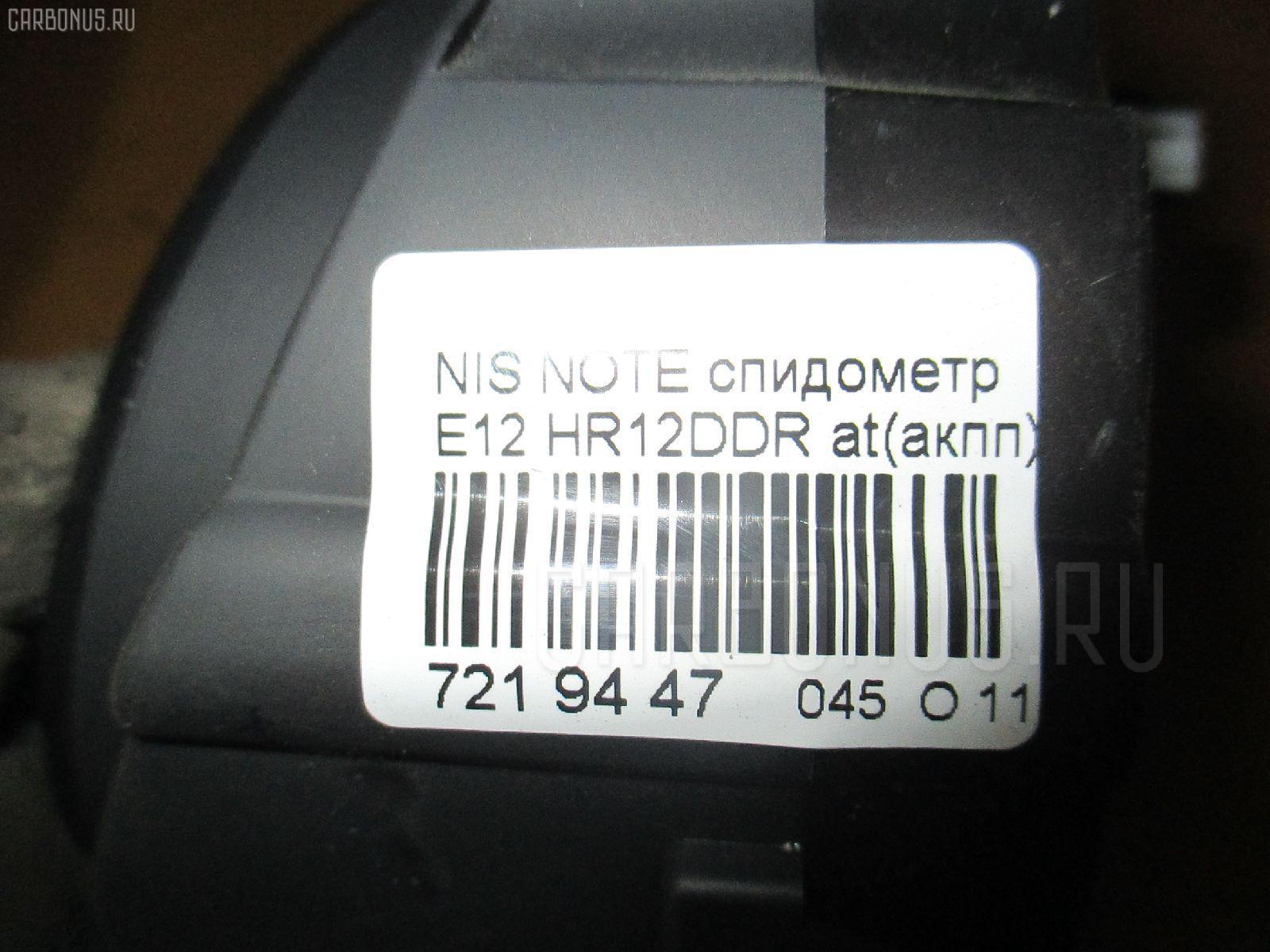 Спидометр NISSAN NOTE E12 HR12DDR Фото 3