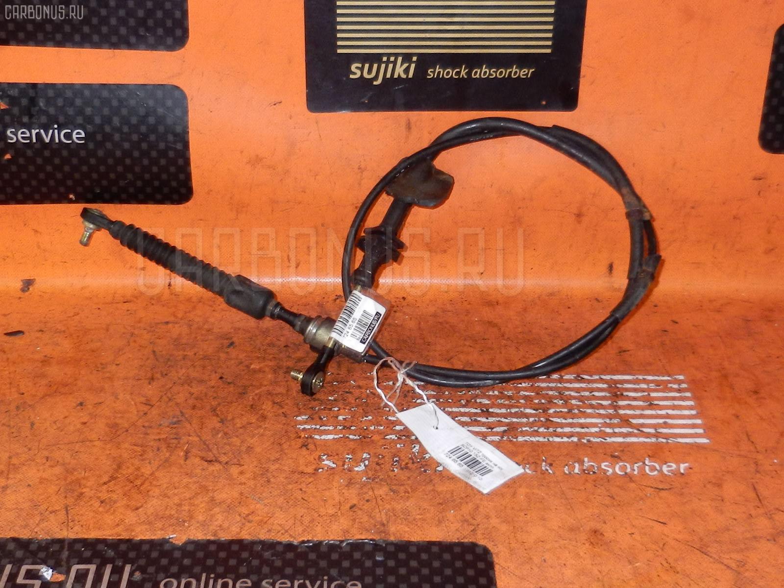Тросик на коробку передач TOYOTA VITZ SCP10 1SZ-FE. Фото 5