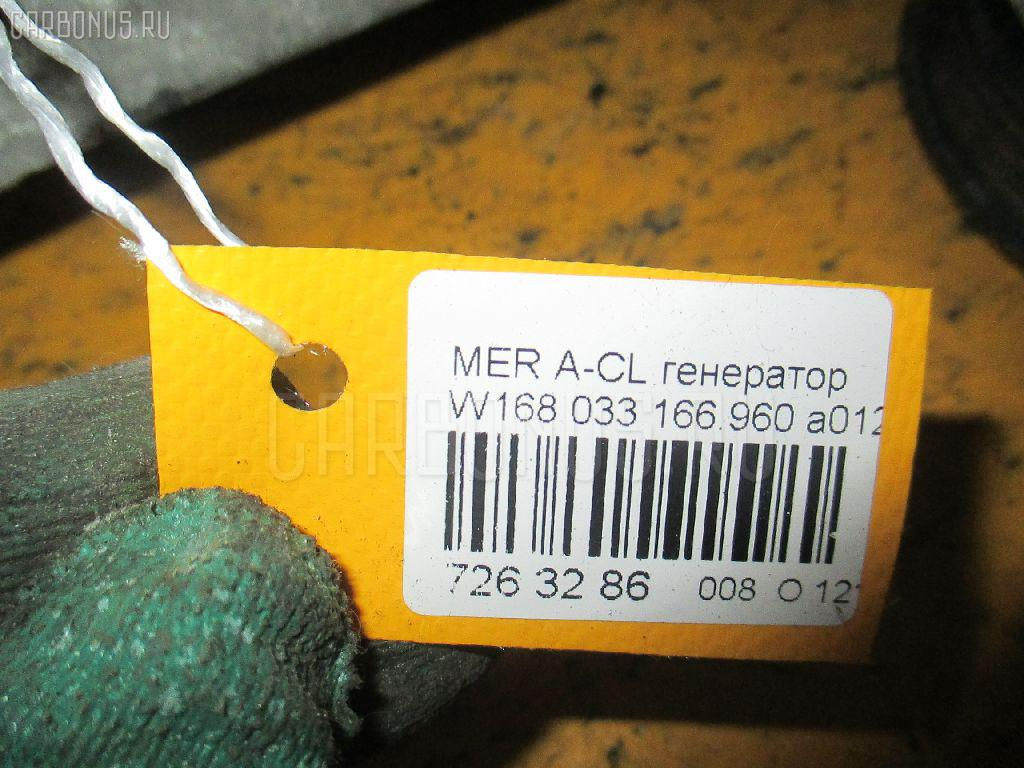 Генератор MERCEDES-BENZ A-CLASS W168.033 166.960 Фото 4