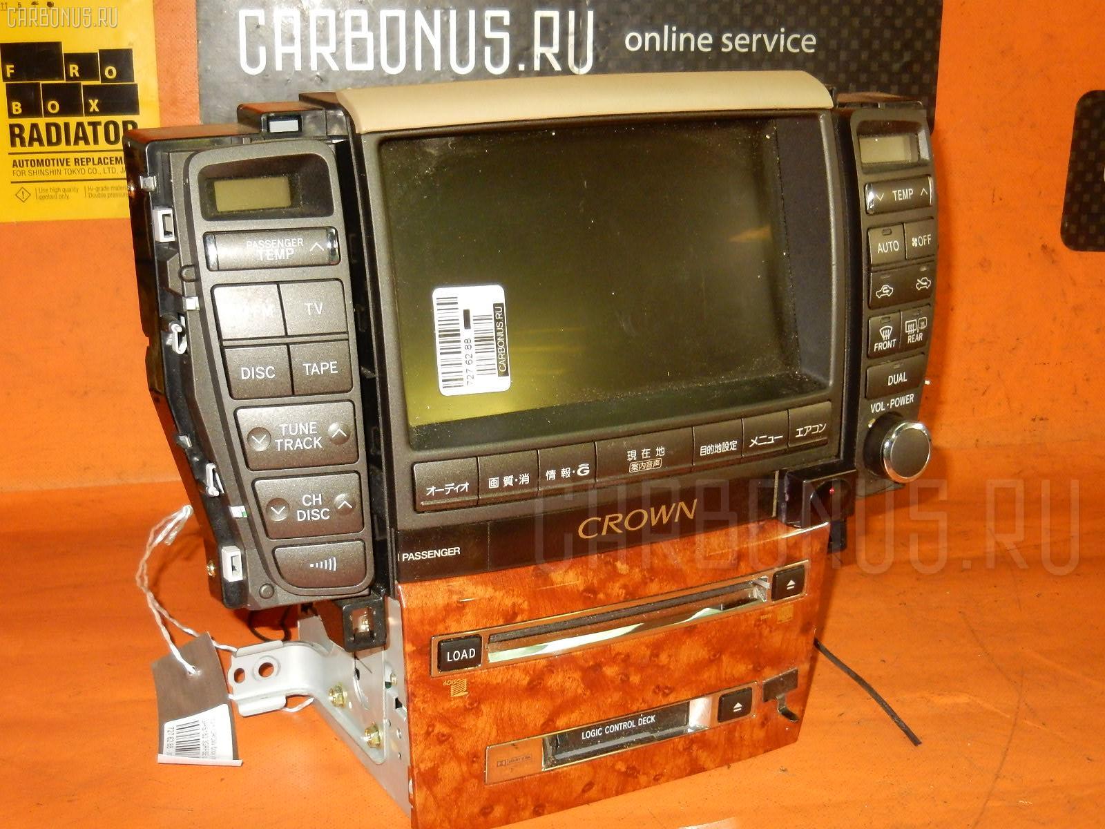 Блок управления климатконтроля TOYOTA CROWN GRS182 3GR-FSE. Фото 4