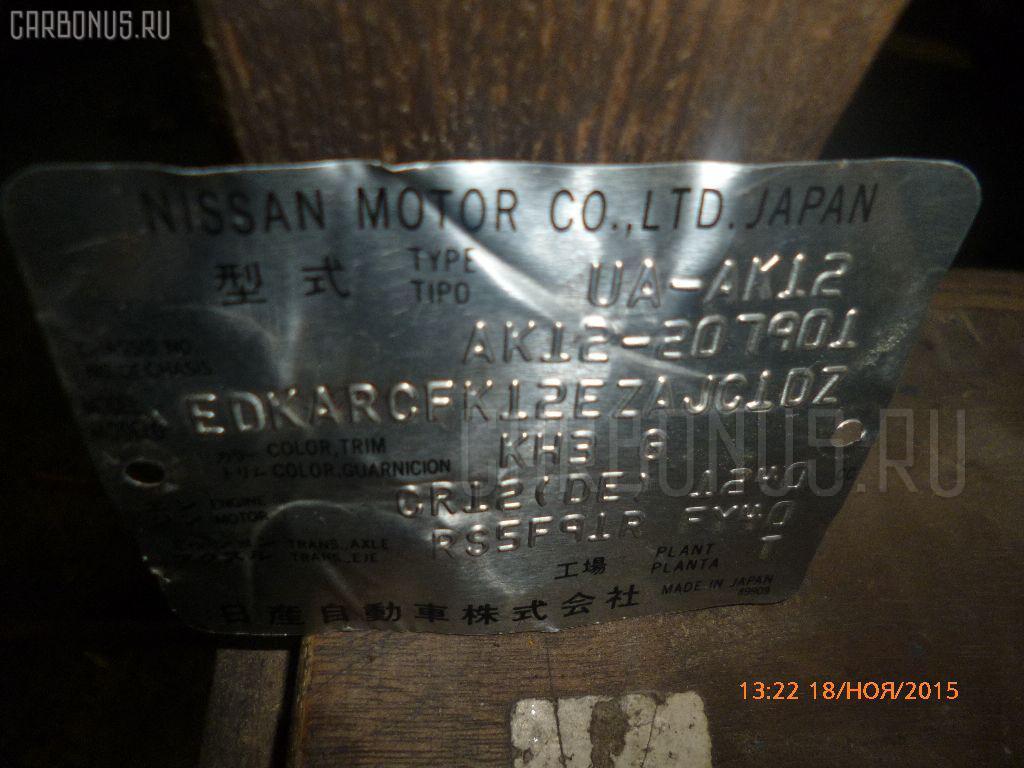КПП механическая NISSAN MARCH AK12 CR12DE Фото 1