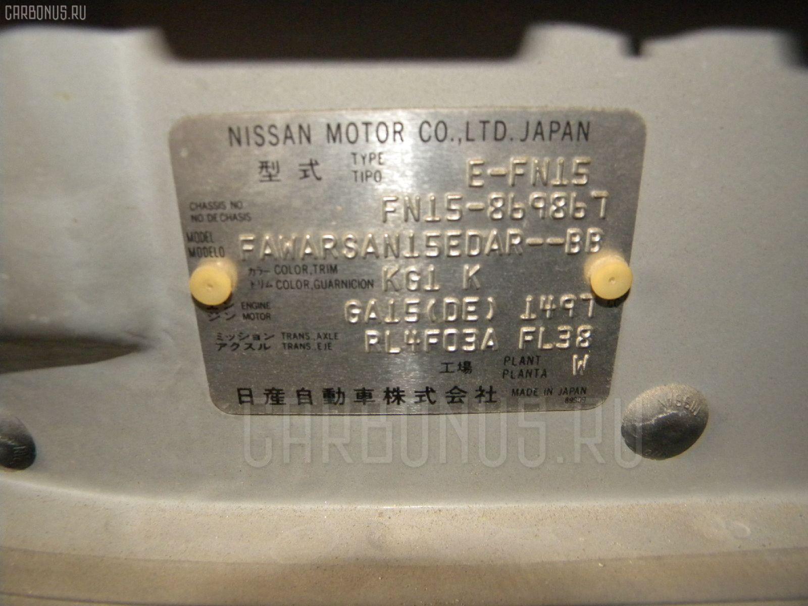 Бензонасос NISSAN PULSAR FN15 GA15DE Фото 3
