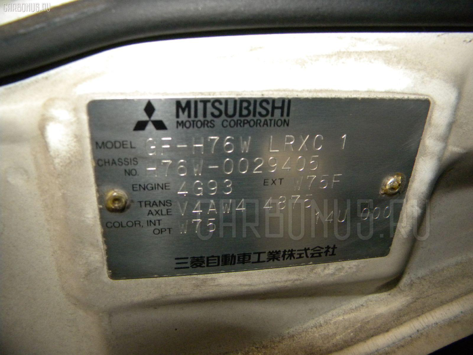 Бампер MITSUBISHI PAJERO IO H76W Фото 6
