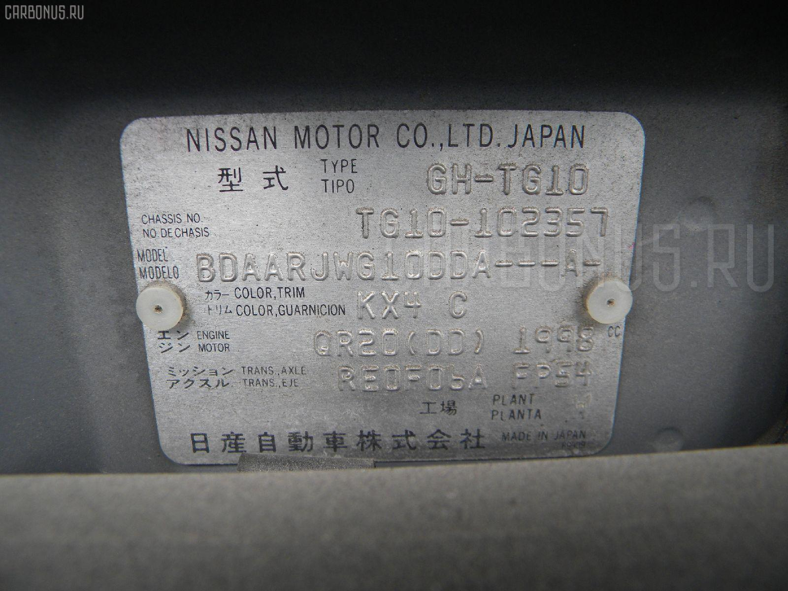 Двигатель NISSAN BLUEBIRD SYLPHY TG10 QR20DD Фото 11