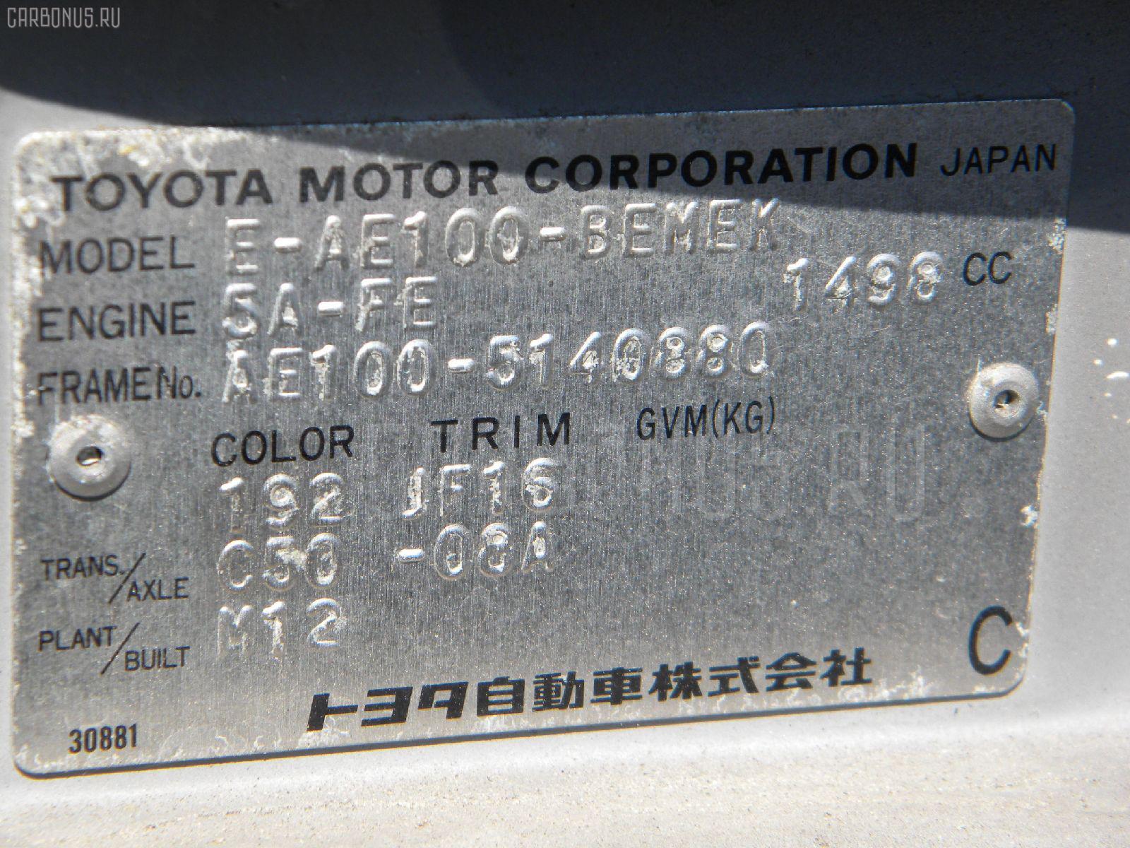 Мотор печки TOYOTA SPRINTER AE100 Фото 3