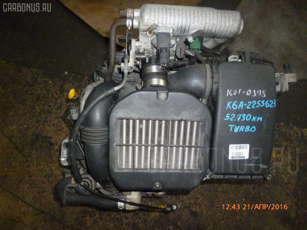 Двигатель SUZUKI MRWAGON MF21S K6A-T Фото 11
