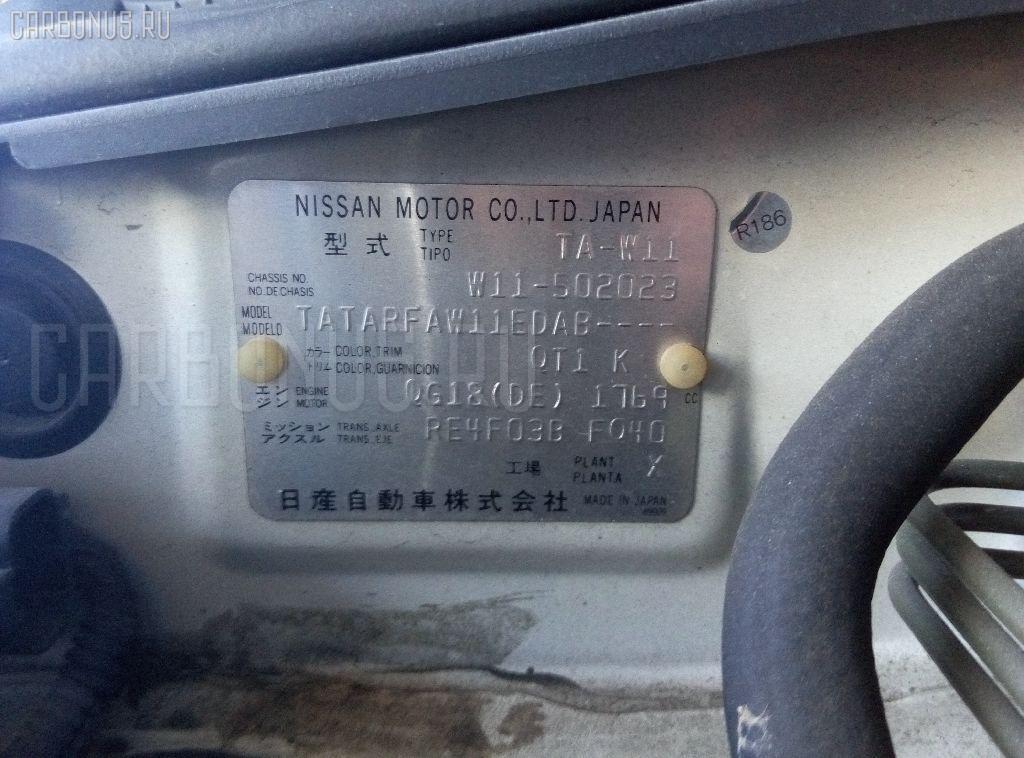 Стартер NISSAN AVENIR W11 QG18DE Фото 3