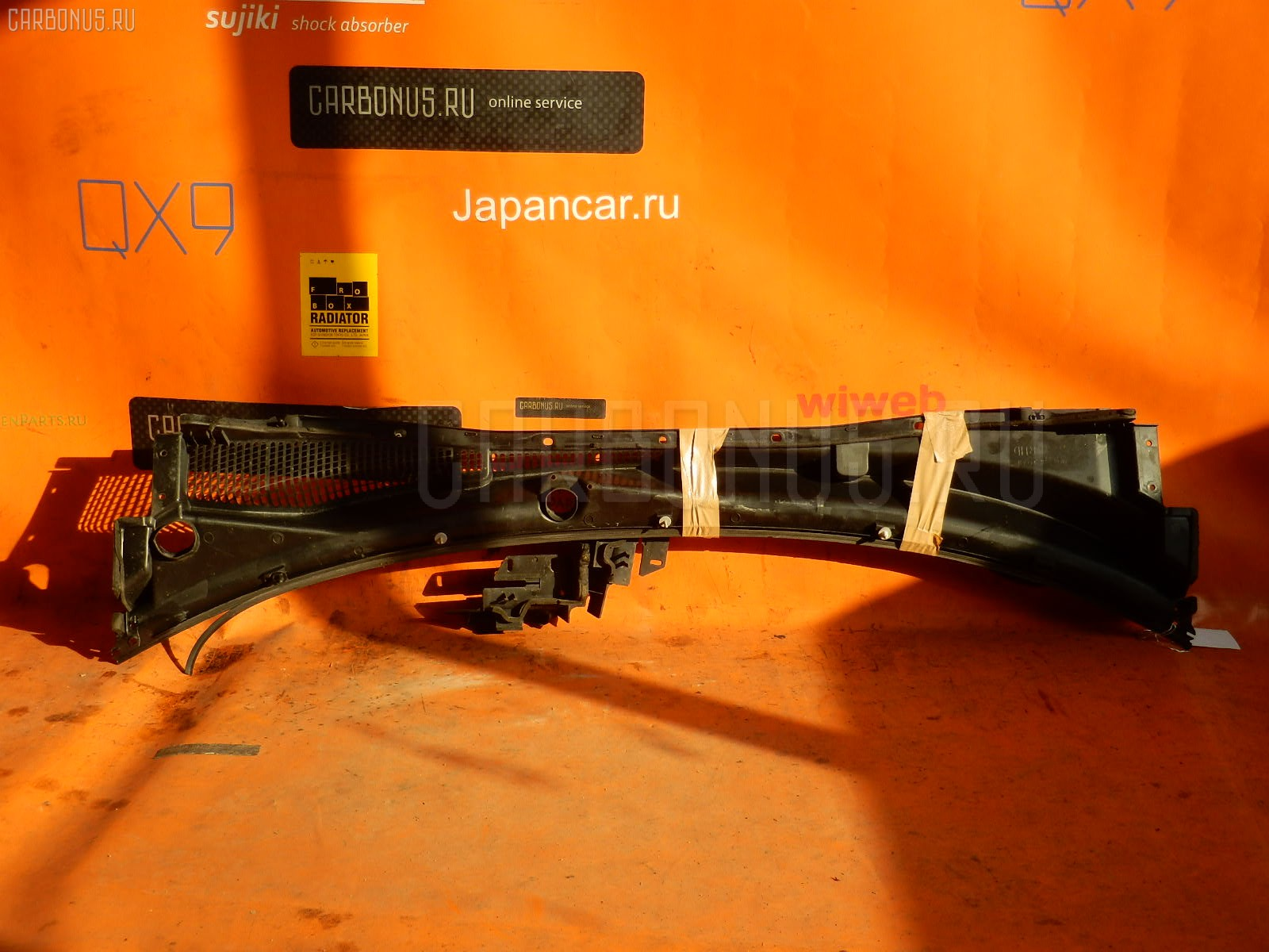 Решетка под лобовое стекло SUBARU LEGACY BP5. Фото 3
