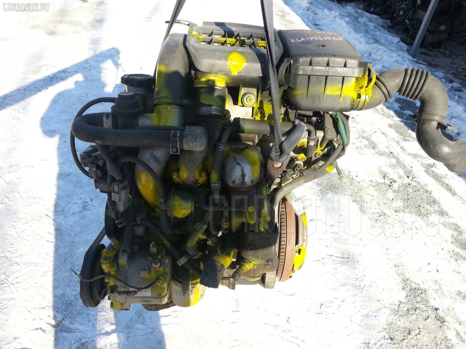 Двигатель SUZUKI KEI HN21S K6A-T. Фото 8