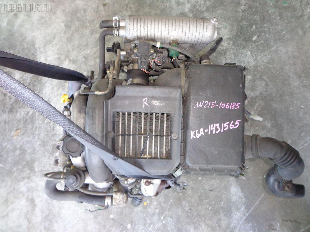 Двигатель SUZUKI KEI HN21S K6A-T. Фото 11