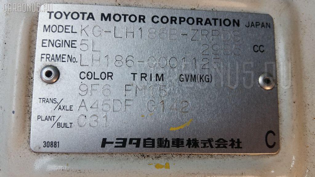 Двигатель TOYOTA HIACE LH186B 5L Фото 8