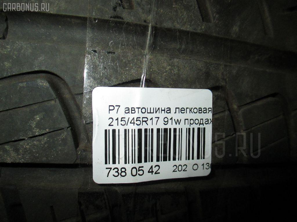Автошина легковая летняя P7 215/45R17 PIRELLI Фото 3